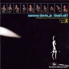CDs de Música: SAMMY DAVIS JR. - THAT'S ALL! - RECORDED LIVE AT THE SANDS HOTEL. Lote 194232447