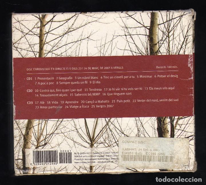 CDs de Música: ESTUCHE CON 3 CDS Y LIBRETO: LLUÍS LLACH (VERGES 2007) · CLAUS RECORDS, 2007 - Peso: 327 gramos - - Foto 2 - 194238918