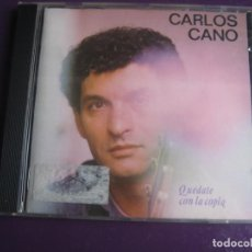 CDs de Música: CARLOS CANO CD SONY 1987 - QUEDATE CON LA COPLA - NUEVA CANCION ESPAÑOLA - LIGERAS SEÑALES DE USO. Lote 194247932