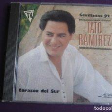 CDs de Música: TATO RAMIREZ CD JAZMIN 1991 - CORAZON DEL SUR - SEVILLANAS - CD SIN USO. Lote 194249100