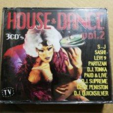 CDs de Música: HOUSE & DANCE VOL. 2 - 3 CD PRECINTADO 1998 SASH PARTIZAN LEVY 9 D.J. TONKA 40 TEMAS DISCO DANCE. Lote 194273385