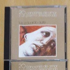 CDs de Música: LUIS EDUARDO AUTE (20 CANCIONES DE AMOR Y UN POEMA DESESPERADO VOL.1 Y VOL.2) 2 CD 1986. Lote 194274561