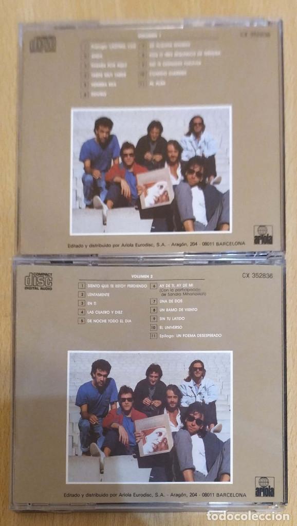 CDs de Música: LUIS EDUARDO AUTE (20 CANCIONES DE AMOR Y UN POEMA DESESPERADO VOL.1 Y VOL.2) 2 CD 1986 - Foto 2 - 194274561