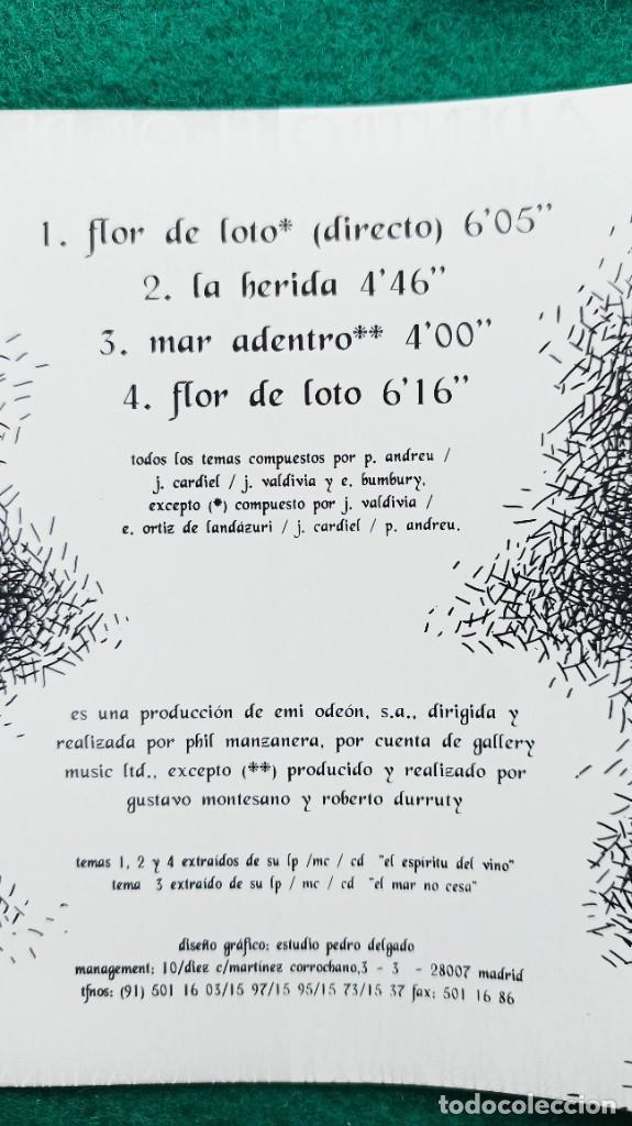 CDs de Música: CD HEROES DEL SILENCIO 4 Temas FLOR DE LOTO 1994 ENVIO GRATIS CERTIFICADO - Foto 19 - 194287821