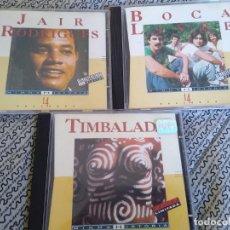 CDs de Música: CDS DE MÚSICA: BRASIL -LOTE 3 CDS TIMBALADA -JAIR RODRIGUES- BOCA LIVRE- BRASIL MPB.. Lote 194292160
