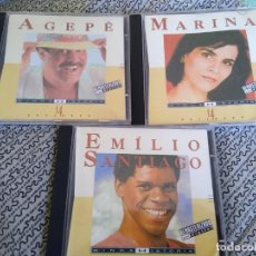 CDs de Música: CDS DE MÚSICA: BRASIL -AGEPE- MARINA -EMILIO SANTIAGOLOTE 3 CDS - BRASIL MPB.. Lote 194292488