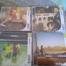 CDs de Música: PURE BRAZIL LOTE 4 CDS -ARTISTAS VARIOS-IMPORTADOS LO MEJOR DE LA MUSICA DE BRASIL. Lote 194293062