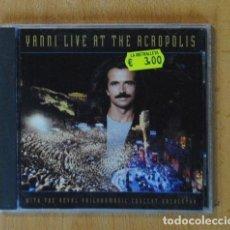 CDs de Música: YANNI - LIVE AT THE ACROPOLIS - CD. Lote 194315016
