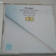 CDs de Música: ARTHUR HONEGGER CD SYMPHONY Nº 2 Y Nº 3 LITURGIQUE BERLINER PHILHARMONIKER HERBERT VON KARAJAN. Lote 194320793