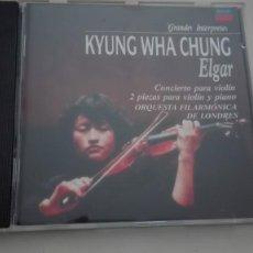 CDs de Música: EDWARD ELGAR CD CONCIERTO PARA VIOLÍN Y ORQUESTA, SALUT D'AMOUR, LA CAPRICIENSE KYUNG WHA CHUNG. Lote 194323955