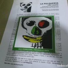 CDs de Música: LA PULQUERIA (CD) FAST CUISINE AÑO – 2010 – PROMOCIONAL + HOJA PROMOCIONAL. Lote 194326017