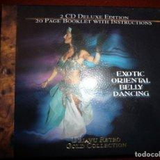 CDs de Música: EXOTIC ORIENTAL BELLY DANCING - 2 CD DELUXE EDITION + LIBRETO DE 20 PÁGINAS CON INSTRUCCIONES. Lote 194330920