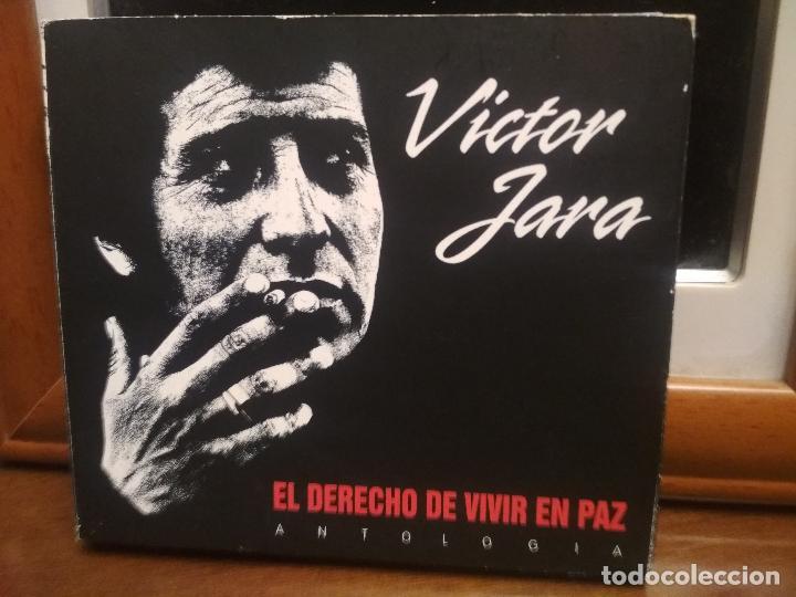 VÍCTOR JARA, EL DERECHO DE VIVIR EN PAZ, ANTOLOGÍA, TRIPLE, 2 CD + 1 DVD + LIBRETO PEPETO (Música - CD's Latina)