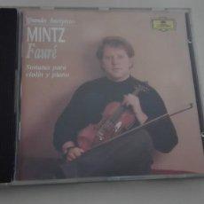 CDs de Música: GABRIEL FAURÉ CD SONATA PARA VIOLÍN Y PIANO Nº 1 Y 2 SHLOMO MINTZ Y YEFIM BRONFMAN DDD. Lote 194331986