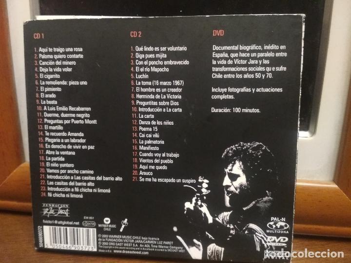 CDs de Música: Víctor Jara, El derecho de vivir en paz, Antología, triple, 2 CD + 1 DVD + libreto PEPETO - Foto 6 - 194331281
