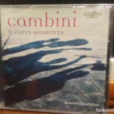 CDs de Música: GIUSEPPE MARIA CAMBINI 6 FLUTE QUARTETS DOBLE CD PRECINTADO . Lote 194337221