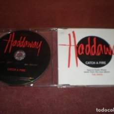 CDs de Música: CD SINGLE PROMO HADDAWAY 7 CATCH A FIRE 2 TRACKS. Lote 194343058