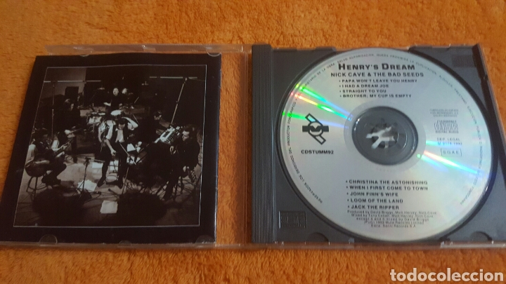 CDs de Música: Nick Cave & The Bad Seeds Henrys Dream CD Spain 1992 - Foto 2 - 194348125