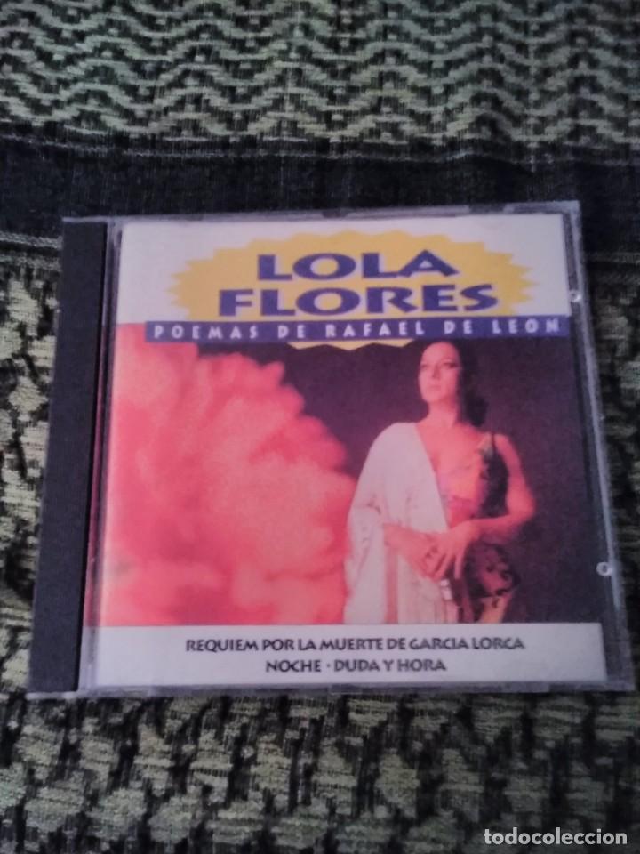 LOLA FLORES. POEMAS DE RAFAEL DE LEÓN. EDICIÓN DIVUCSA DE 1994. RARO Y COTIZADO (Música - CD's Flamenco, Canción española y Cuplé)