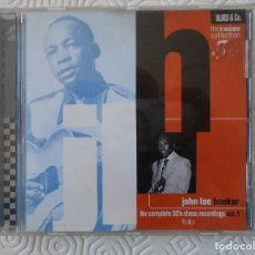 CDs de Música: JOHN LEE HOOKER. THE COMPLETE 50'S CHESS RECORDING, VOL. 1. COMPACTO CON 16 TEMAS.. Lote 194380525