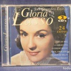 CDs de Música: GLORIA LASSO - SUS GRANDES ÉXITOS - 2 CD . Lote 194381591
