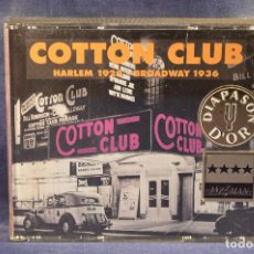 CDs de Música: COTTON CLUB - HARLEM 1924 - BROADWAY 1936 - 2 CD . Lote 194381910