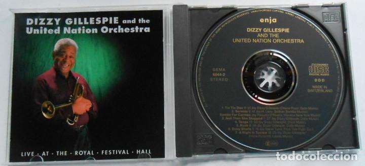 CDs de Música: DIZZY GILLESPI & THE UNITED NATION ORCHESTRA - LIVE AT THE ROYAL FECTIVAL HALL 1990 concert - Foto 2 - 194393157