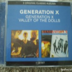 CDs de Música: DOBLE CD. GENERATION X. GENERATION X + VALLEY OF THE DOLLS. MUY BUENA CONSERVACION. Lote 194397530