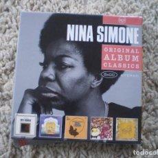 CDs de Música: CAJA 5 CD´S NINA SIMONE. MUY BUENA CONSERVACION. Lote 194399652