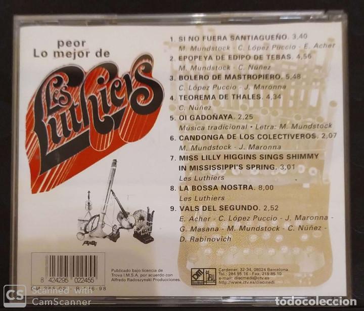 CDs de Música: LES LUTHIERS (LO MEJOR PEOR DE LES LUTHIERS) CD 1998 - Foto 2 - 194516218
