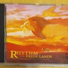 CDs de Música: RHYTHM OF THE PRIDE LANDS (MUSICA INSPIRADA DEL REY LEON) CD 1995 WALT DISNEY - LEBO M. Lote 194516478