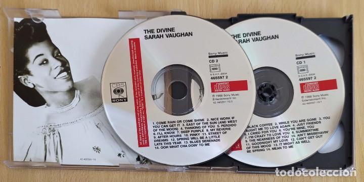 CDs de Música: SARAH VAUGHAN (THE DIVINE 1949 - 1953) 2 CDs 1988 - Foto 3 - 194516875