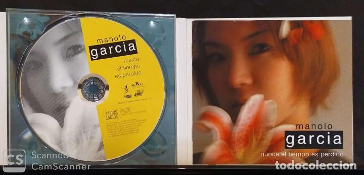 CDs de Música: MANOLO GARCIA (NUNCA EL TIEMPO ES PERDIDO) CD 2001 - Foto 3 - 194517731