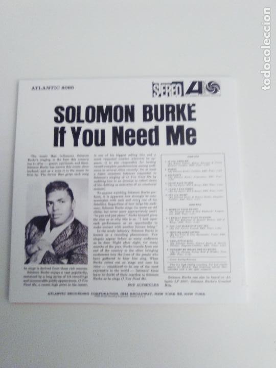 CDs de Música: SOLOMON BURKE If you need me ( 1963 ATLANTIC ) RÉPLICA VINILO - Foto 2 - 194534996