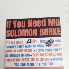 CDs de Música: SOLOMON BURKE IF YOU NEED ME ( 1963 ATLANTIC ) RÉPLICA VINILO. Lote 194534996