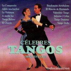 CDs de Música: TANGOS CELEBRES. LA CUMPARSITA. A MEDIA LUZ. ADIOS MUCHACHOS. CD.. Lote 194537807