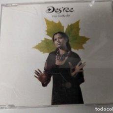 CDs de Música: CD MAXI SINGLE DES REE / YOU GOTTA BE 4 TRACKS CD SIN USO!!. Lote 194541047