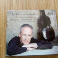 CDs de Música: LLUÍS CLARET EN FONFROIDE, CASSADÓ, CASALS, GUINJOAN, BROTONS, VIOLONCHELO. Lote 194579712
