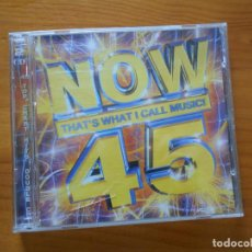 CDs de Música: CD NOW 45 (2 CD'S) - CRAIG DAVID, BRITNEY SPEARS, BACKSTREET BOYS, TOM JONES, SHANIA TWAIN... (1H). Lote 194584282