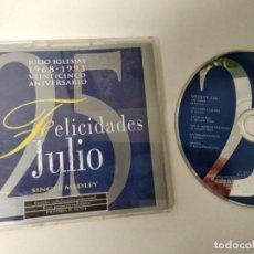CDs de Música: CD MAXI / JULIO IGLESIAS / 25 ANIVERSARIO / SINGLE MEDLEY CON 6 TEMAS.. Lote 194597477