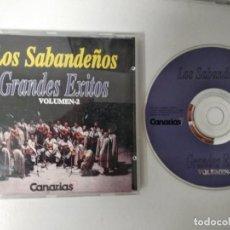 CDs de Música: LOS SABANDEÑOS. GRANDES EXITOS. VOLUMEN 2. COMPACTO CON 10 CANCIONES. CANARIAS FOLK CANARIO. Lote 194597803