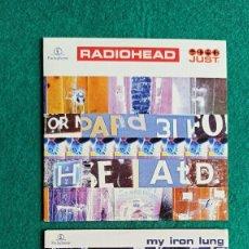 CDs de Música: 2 CD SINGLES RADIOHEAD MY IRON LUNG / JUST 1994/1995 ENVIO CERTIFICADO GRATIS . Lote 194598913