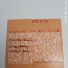 CDs de Música: BILL EVANS TRIO EVERYBODY DIGS BILL EVANS ( 2017 DOL ) REPLICA DEL DISCO ORIGINAL EXCELENTE ESTADO. Lote 194599318
