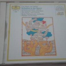 CDs de Música: CARL MARIA VON WEBER CD INVITATION TO THE DANCE FILARMÓNICA DE BERLÍN HERBERT VON KARAJAN. Lote 194617278