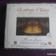 CDs de Música: EMBRUJO CLASICO DOBLE CD - FALLA - ALBENIZ - GRANADOS - TURINA - FERNANDO ARGENTA - CLASICA ESPAÑOLA. Lote 194641411
