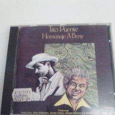 CDs de Música: TITO PUENTE HOMENAJE A BENY MORE ( 1978 3DR 1991 ). Lote 194643013