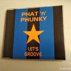 CDs de Música: LET'S GROOVE / PHAT 'N' PHUNKY (5 VERSIONES) CD MAXI VENDETTA 1997. Lote 194688626