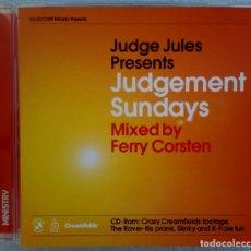 CDs de Música: FERRY CORSTEN - JUDGE JULES PRESENTS JUDGEMENT SUNDAYS - UK CD 2000 - MINISTRY. Lote 194713426