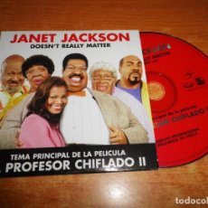 CDs de Música: JANET JACKSON DOESN´T REALLY MATTER BANDA SONORA EL PROFESOR CHIFLADO II CD SINGLE PROMO ESPAÑA 2000. Lote 194725241