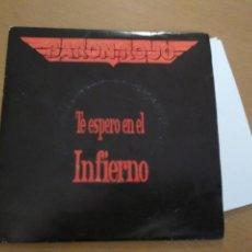 CDs de Música: BARON ROJO SG AVISPA 1992 TE ESPERO EN EL INFIERNO (POR LAS 2 CARAS) CON HOJA PROMO ROCK HEAVY META. Lote 194725256